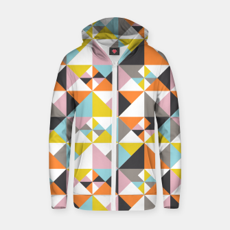 Thumbnail image of Detailed Geometric Pattern - Multicolored Zip up hoodie, Live Heroes