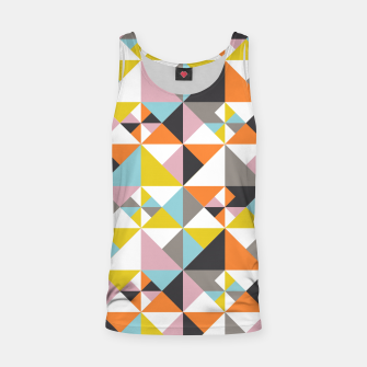 Detailed Geometric Pattern - Multicolored Tank Top thumbnail image