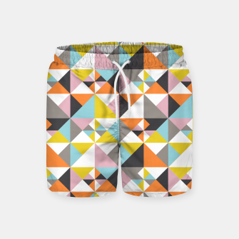 Detailed Geometric Pattern - Multicolored Swim Shorts thumbnail image