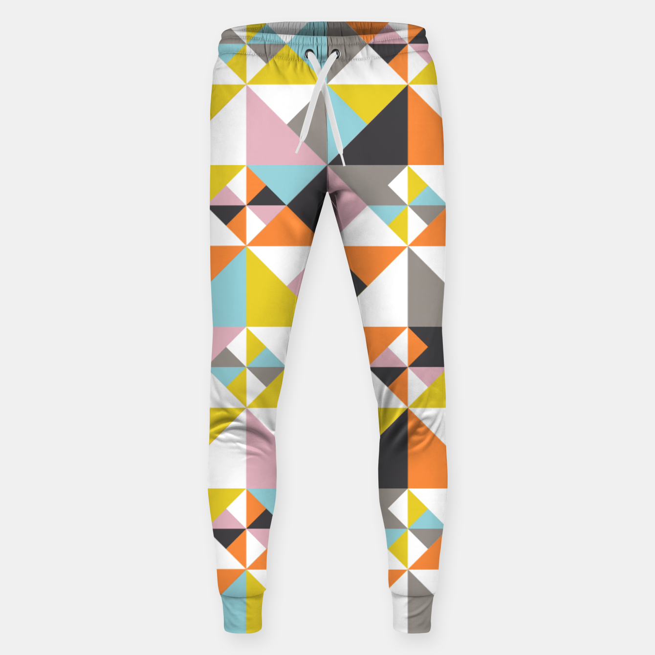 Image of Detailed Geometric Pattern - Multicolored Sweatpants - Live Heroes