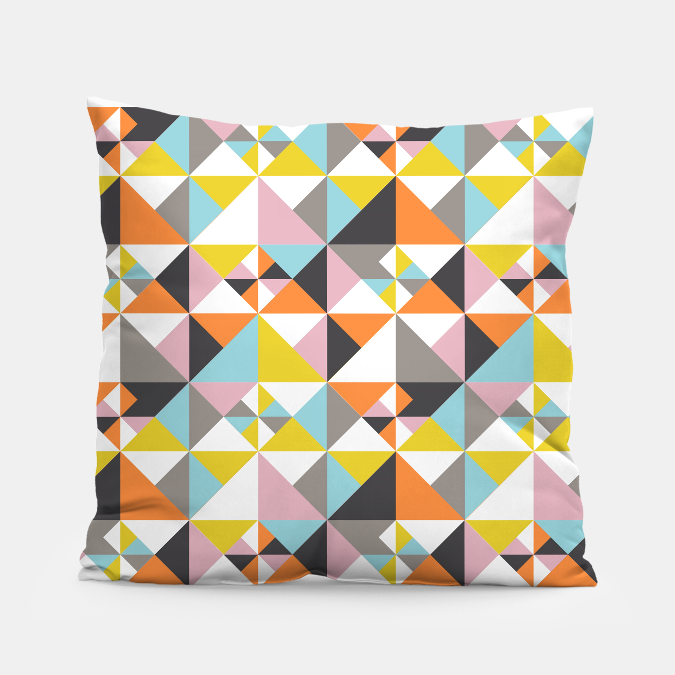 Image of Detailed Geometric Pattern - Multicolored Pillow - Live Heroes