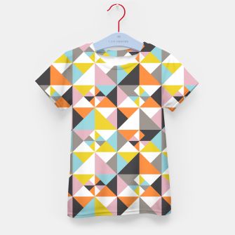 Detailed Geometric Pattern - Multicolored Kid's t-shirt thumbnail image