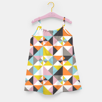 Detailed Geometric Pattern - Multicolored Girl's dress thumbnail image