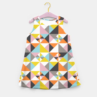 Detailed Geometric Pattern - Multicolored Girl's summer dress thumbnail image