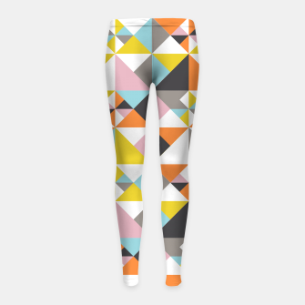 Thumbnail image of Detailed Geometric Pattern - Multicolored Girl's leggings, Live Heroes