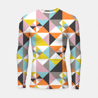 Thumbnail image of Detailed Geometric Pattern - Multicolored Longsleeve rashguard , Live Heroes