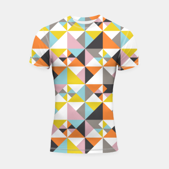 Thumbnail image of Detailed Geometric Pattern - Multicolored Shortsleeve rashguard, Live Heroes