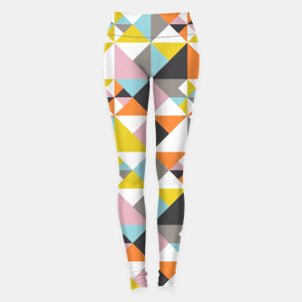 Thumbnail image of Detailed Geometric Pattern - Multicolored Leggings, Live Heroes