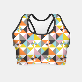 Detailed Geometric Pattern - Multicolored Crop Top thumbnail image
