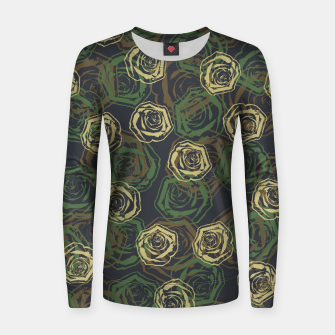 Thumbnail image of Rose Camo WOODLAND Women sweater, Live Heroes