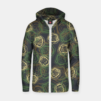 Thumbnail image of Rose Camo WOODLAND Zip up hoodie, Live Heroes