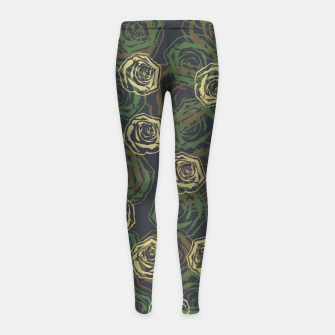 Thumbnail image of Rose Camo WOODLAND Girl's leggings, Live Heroes