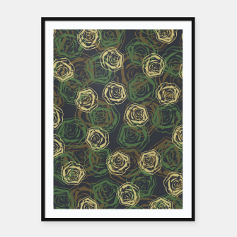Thumbnail image of Rose Camo WOODLAND Framed poster, Live Heroes