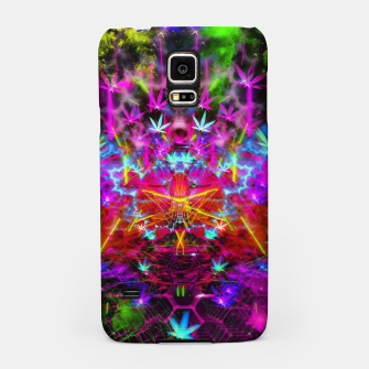 Miniatur Cannabinoid Space-Time Warp (psychedelic,abstract, cannabis leaf) Samsung Case, Live Heroes