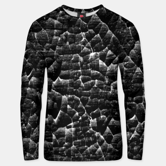 Thumbnail image of Black and White Grunge Cracked Abstract Print  Unisex sweater, Live Heroes