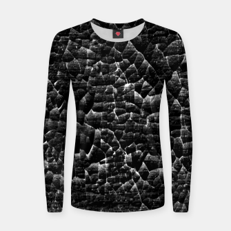 Thumbnail image of Black and White Grunge Cracked Abstract Print  Women sweater, Live Heroes