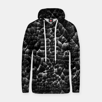 Thumbnail image of Black and White Grunge Cracked Abstract Print  Hoodie, Live Heroes
