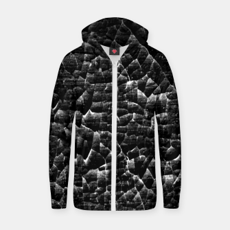 Thumbnail image of Black and White Grunge Cracked Abstract Print  Zip up hoodie, Live Heroes