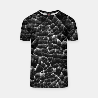 Thumbnail image of Black and White Grunge Cracked Abstract Print  T-shirt, Live Heroes