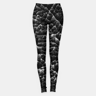 Thumbnail image of Black and White Grunge Cracked Abstract Print  Leggings, Live Heroes