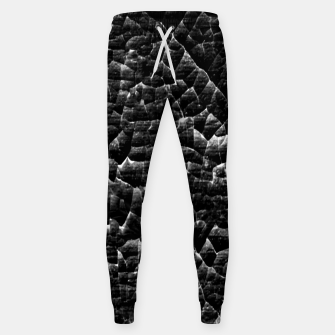 Thumbnail image of Black and White Grunge Cracked Abstract Print  Sweatpants, Live Heroes