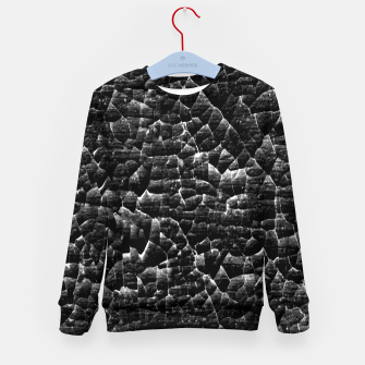 Thumbnail image of Black and White Grunge Cracked Abstract Print  Kid's sweater, Live Heroes