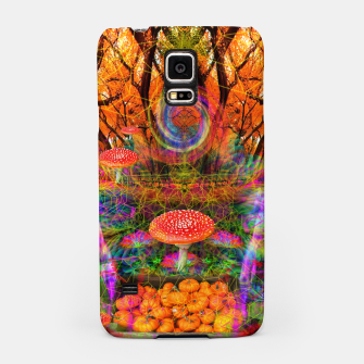 Miniatur Hypnotic Autumn Magic (psychedelic, nature, mushrooms) Samsung Case, Live Heroes