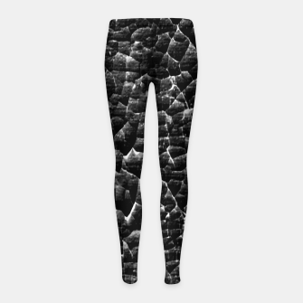 Thumbnail image of Black and White Grunge Cracked Abstract Print  Girl's leggings, Live Heroes