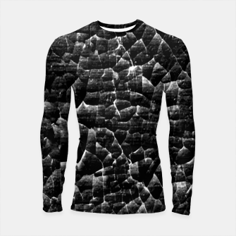 Thumbnail image of Black and White Grunge Cracked Abstract Print  Longsleeve rashguard , Live Heroes