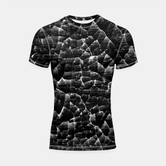 Thumbnail image of Black and White Grunge Cracked Abstract Print  Shortsleeve rashguard, Live Heroes