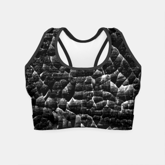 Thumbnail image of Black and White Grunge Cracked Abstract Print  Crop Top, Live Heroes