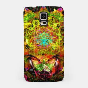 Miniatur Honeycomb Hideout (psychedelic, visionary, abstract, bees) Samsung Case, Live Heroes