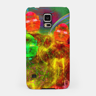 Thumbnail image of Martian Family Greeting (retro sci-fi, scifi, psychedelic) Samsung Case, Live Heroes