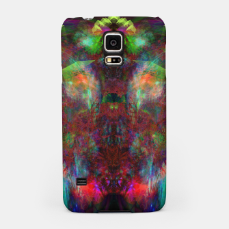 Miniatur Butterfly Block Face (Burgundy) abstract, visionary, psychedelic) Samsung Case, Live Heroes