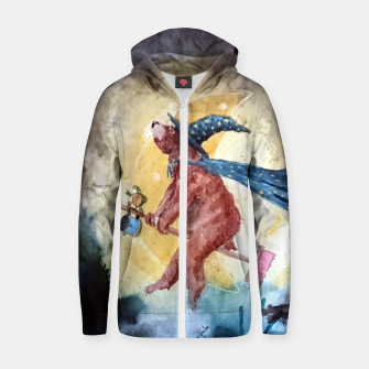 Thumbnail image of Bearwitch Zip up hoodie, Live Heroes