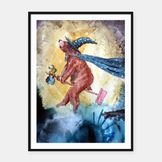 Thumbnail image of Bearwitch Framed poster, Live Heroes