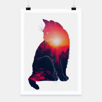 Thumbnail image of Sunset Cat Poster, Live Heroes