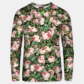 Pink roses Unisex sweater miniature