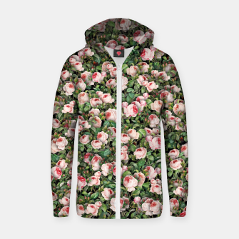 Thumbnail image of Pink roses Zip up hoodie, Live Heroes