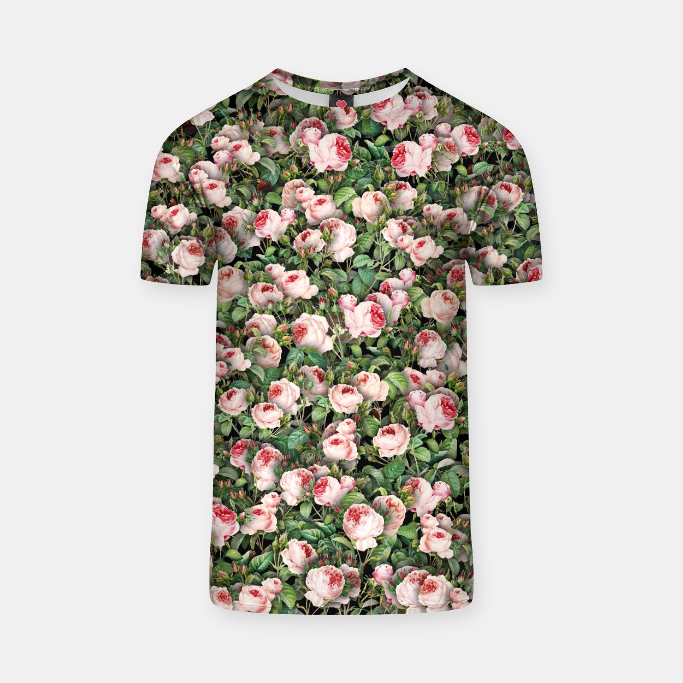 Image of Pink roses T-shirt - Live Heroes