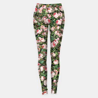 Pink roses Leggings miniature