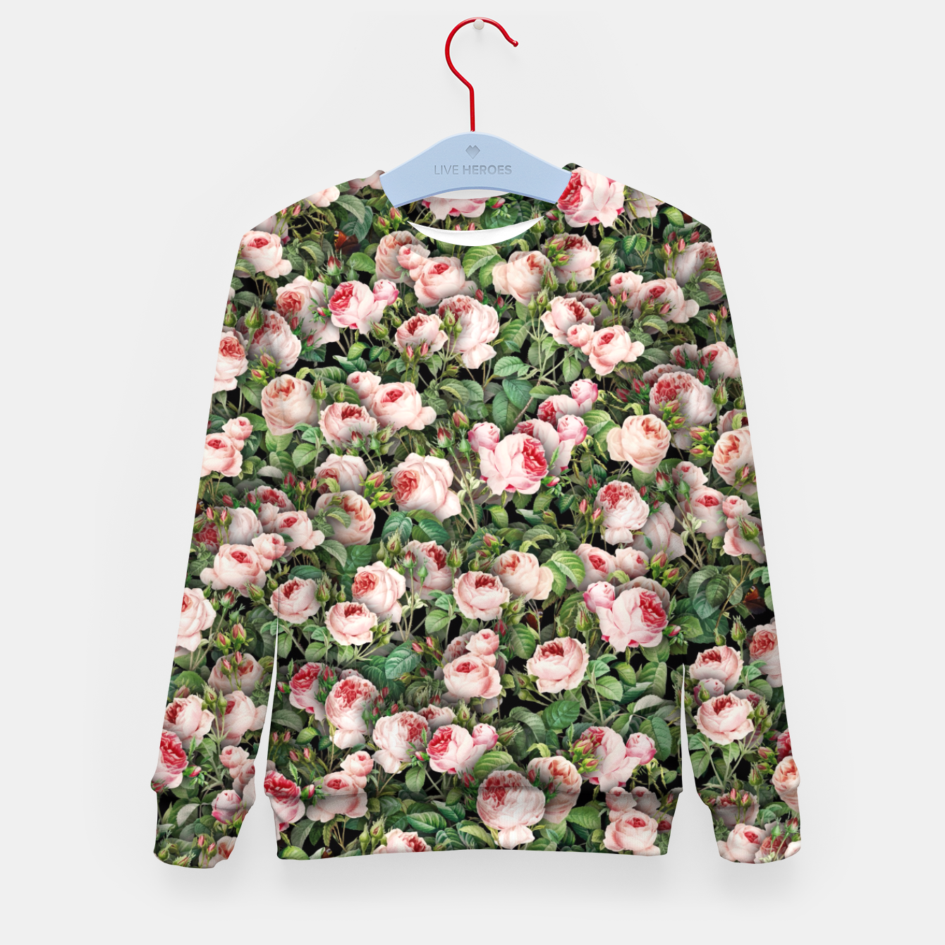 Image of Pink roses Kid's sweater - Live Heroes