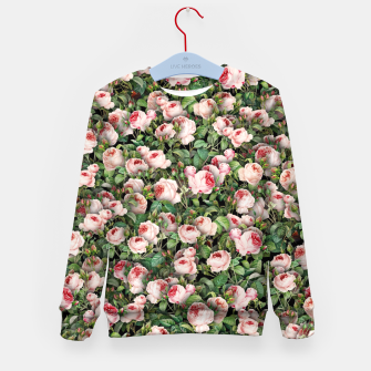 Thumbnail image of Pink roses Kid's sweater, Live Heroes