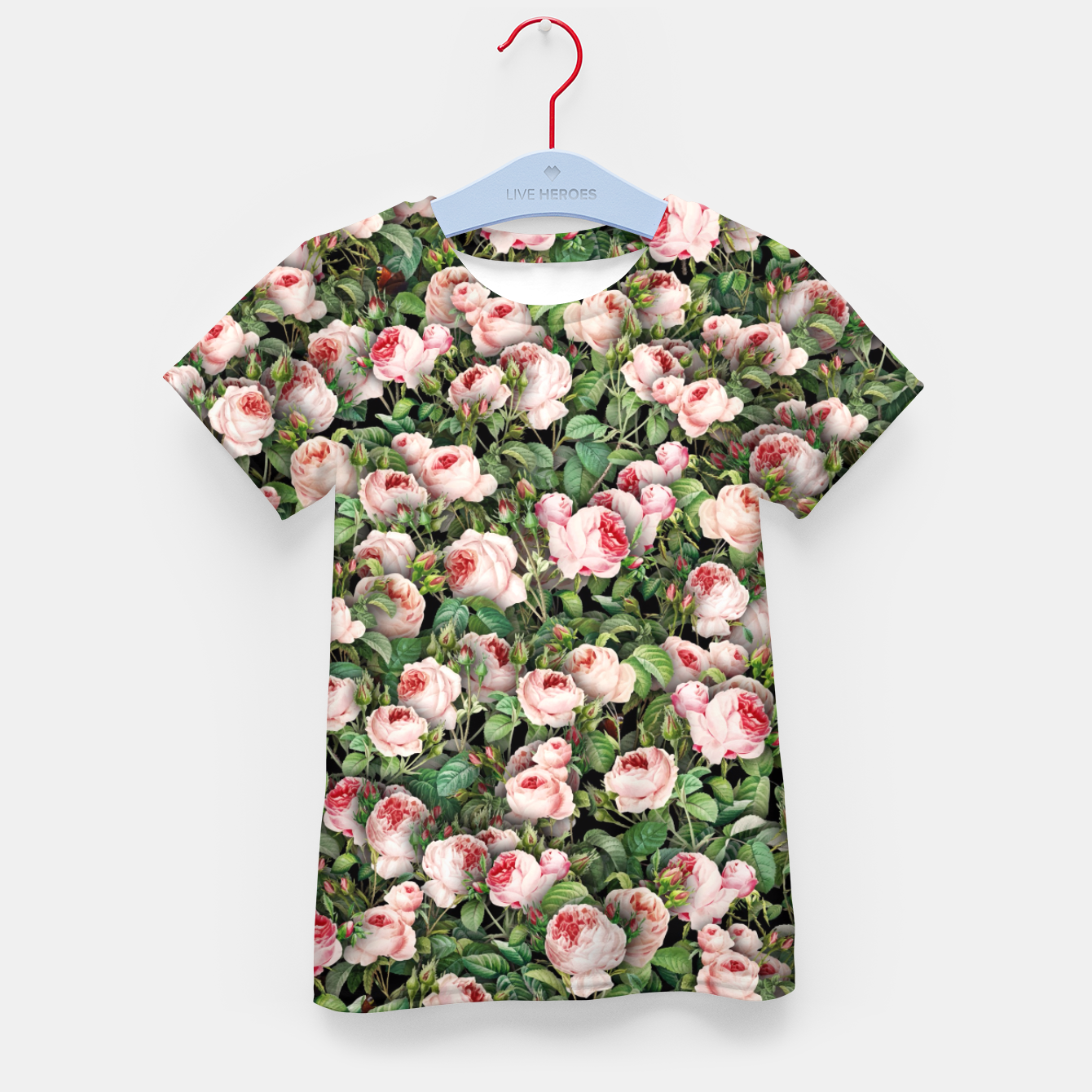 Image of Pink roses Kid's t-shirt - Live Heroes