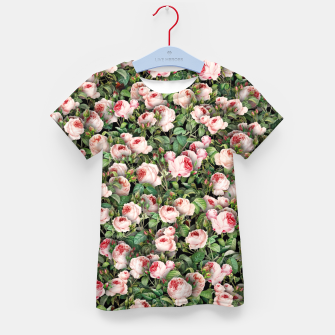 Thumbnail image of Pink roses Kid's t-shirt, Live Heroes