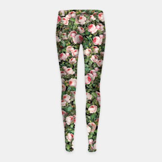 Thumbnail image of Pink roses Girl's leggings, Live Heroes