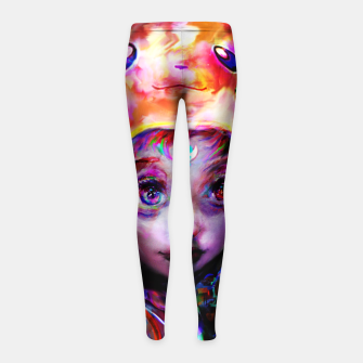 geek girl Girl's leggings obraz miniatury