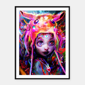 Thumbnail image of geek girl Framed poster, Live Heroes