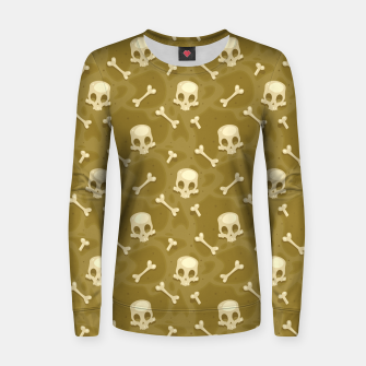 Thumbnail image of Skull Pattern - 01 Women sweater, Live Heroes