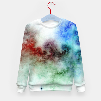 Thumbnail image of White Galaxy Kid's sweater, Live Heroes